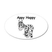 Appy Happy, Leopard Appaloosa 20x12 Oval Wall Peel