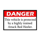 Attack Red Heeler Sticker