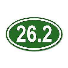 26.2 Marathon Green Euro 20x12 Oval Wall Peel