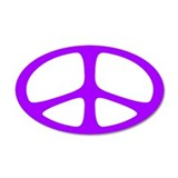Peace 20x12 Oval Wall Peel (Neo Purple)