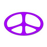 Peace 35x21 Oval Wall Peel (Neo Purple)