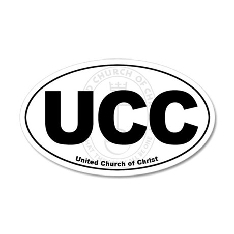 UCC United Church of Christ Euro 35x21 Oval Wall P