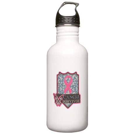 Breast Cancer Survivor Stainless Water Bottle 1.0L