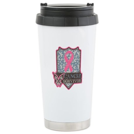 Breast Cancer Survivor Ceramic Travel Mug