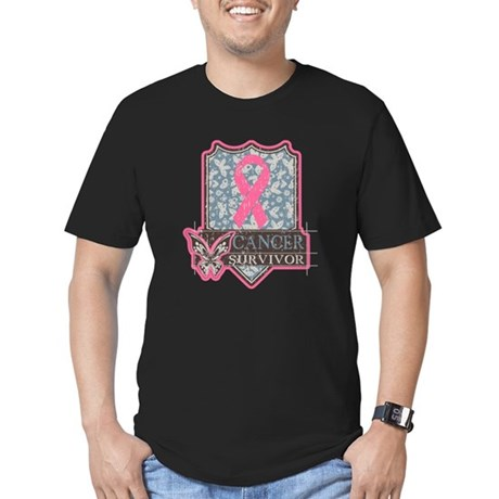Breast Cancer Survivor Men's Fitted T-Shirt (dark)