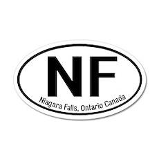 Niagara Falls, Ontario Canada 20x12 Oval Wall Peel