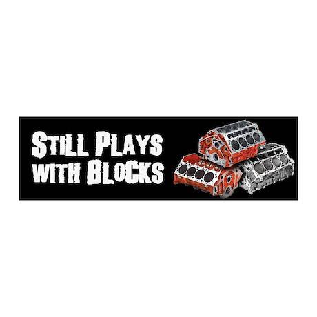 Still Plays With Blocks 20x6 Wall Peel