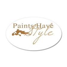 Paint Horse 35x21 Oval Wall Peel