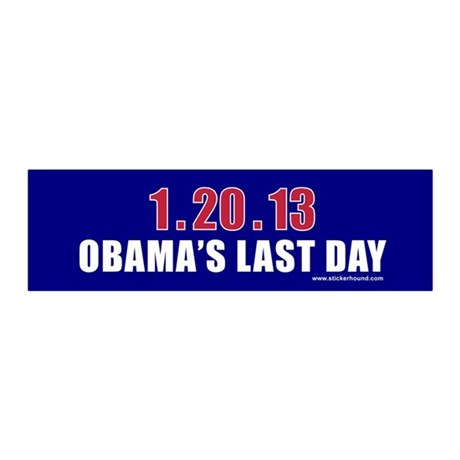 1.20.13 Obama's Last Day 36x11 Wall Peel