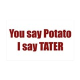 Potato Tater 35x21 Wall Peel