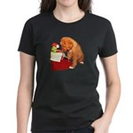 Toller Puppy Christmas Women's Dark T-Shirt