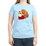 Toller Puppy Christmas Women's Light T-Shirt