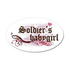 Soldier's Babygirl 20x12 Oval Wall Peel