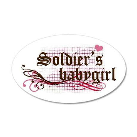 Soldier's Babygirl 35x21 Oval Wall Peel