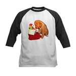 Toller Puppy Christmas Kids Baseball Jersey