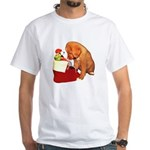 Toller Puppy Christmas White T-Shirt