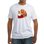Toller Puppy Christmas Fitted T-Shirt