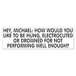 Hey, Michael Sticker (Bumper)