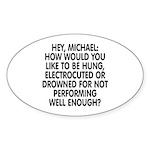 Hey, Michael Sticker (Oval 10 pk)