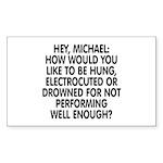 Hey, Michael Sticker (Rectangle 10 pk)