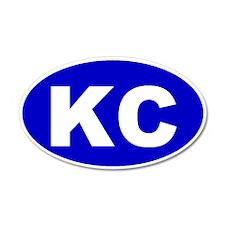 Kansas City, Kansas 35x21 Oval Wall Peel