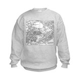 Ancient Athens Map Sweatshirt