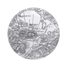 Ancient Athens Map Ornament (Round)