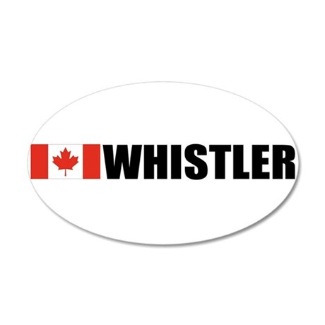 Whistler, British Columbia 20x12 Oval Wall Peel