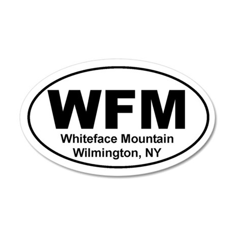 Whiteface Mountain 20x12 Oval Wall Peel