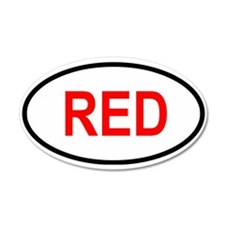 RED 35x21 Oval Wall Peel