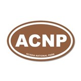 Acadia National Park Brown Euro 20x12 Oval Wall Pe