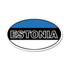 Estonian Flag 35x21 Oval Wall Peel