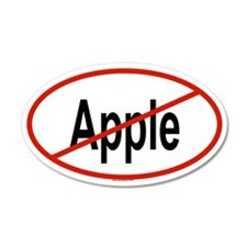 APPLE 20x12 Oval Wall Peel