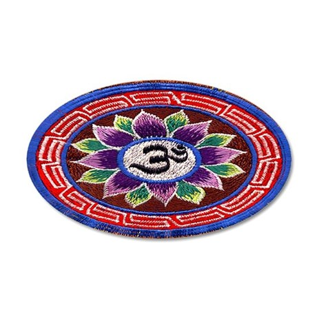 OM Tapestry 20x12 Oval Wall Peel