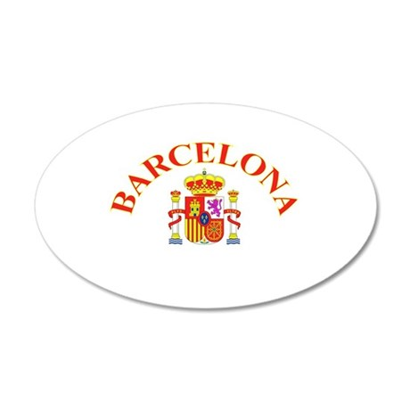 Barcelona, Spain 35x21 Oval Wall Peel