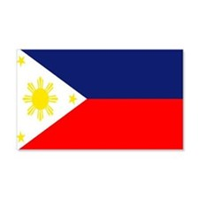 PHILIPPINE ISLAND FLAG 20x12 Wall Peel