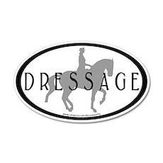 Piaffe Rider w/ DRESSAGE Text 35x21 Oval Wall Peel