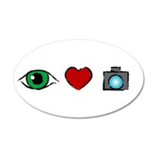 WTD: I Love Photography 35x21 Oval Wall Peel