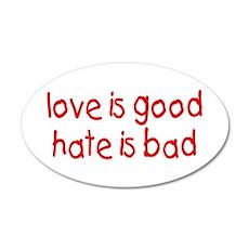 Love & Hate 35x21 Oval Wall Peel
