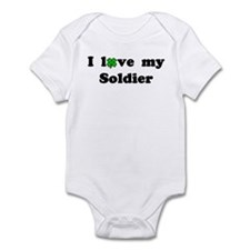 I love my Soldier - lucky clover Infant Creeper