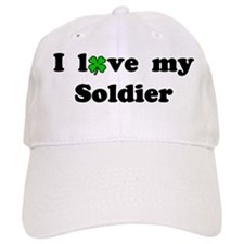 I love my Soldier - lucky clover Baseball Cap