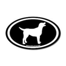 labrador retriever oval (white/blk) 20x12 Oval Wal