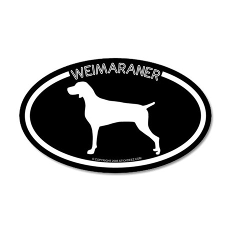 """Weimaraner"" Black 20x12 Oval Wall Peel"