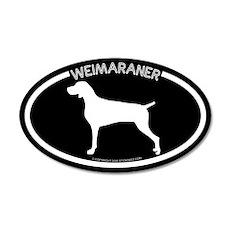 """Weimaraner"" Black 35x21 Oval Wall Peel"