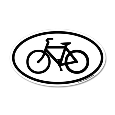 Bike Euro 20x12 Oval Wall Peel
