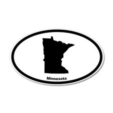 Minnesota State Outline 20x12 Oval Wall Peel