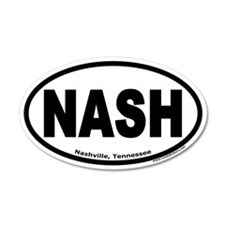 "Nashville, Tennessee ""NASH"" 35x21 Oval Wall Peel"