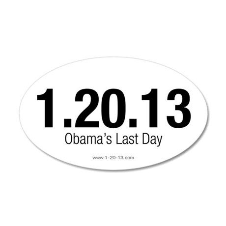 Obama's Last Day White Sticker
