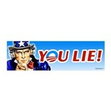 Uncle Sam - You Lie! 20x6 Wall Peel