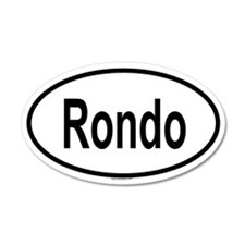 RONDO 20x12 Oval Wall Peel